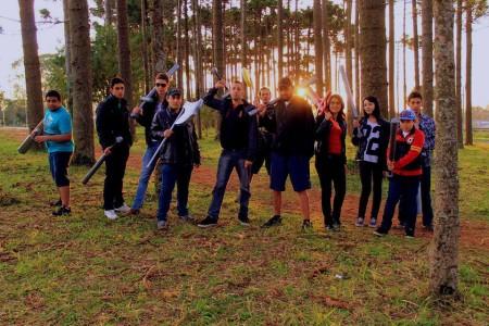 Crédito: Sekigahara Swordplay Grupo Sekigahara durante um treino